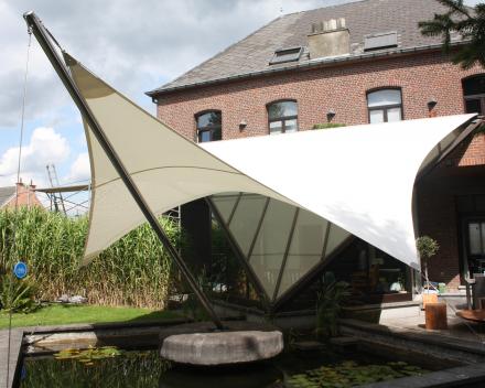 Zonwering veranda Soltis waterproof Winning Sails Tentstructuren
