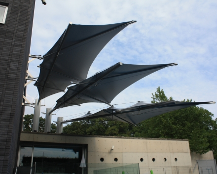 Bestaande Tentstructuur vernieuwen Precontraint Winning Sails Tentstructuren
